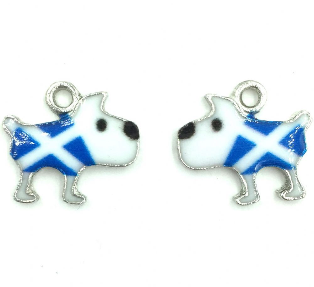 scottish charm blue and white saltire flag 17mm